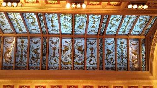 Nice glass ceiling of the Bank pub.
