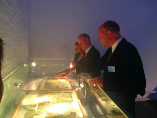 I give Minister Willetts a tour of our fabulous fossil casts.