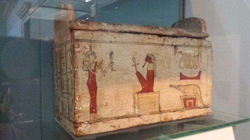 This shabti box was for a noble daughter, Neskshons, in Thebes, from around 650 B.C.