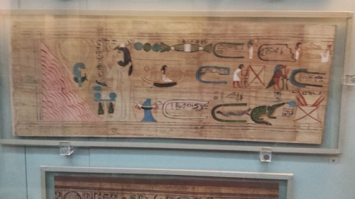 This papyrus is from around 900 B.C., with short blurbs about the woman Tentosorkon, part of a new style of funeral provisions in the 22nd Dynasty of Egypt.